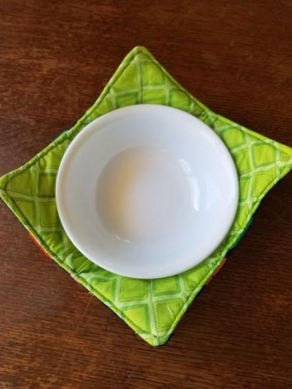 Green Smiley Bowl Cozie
