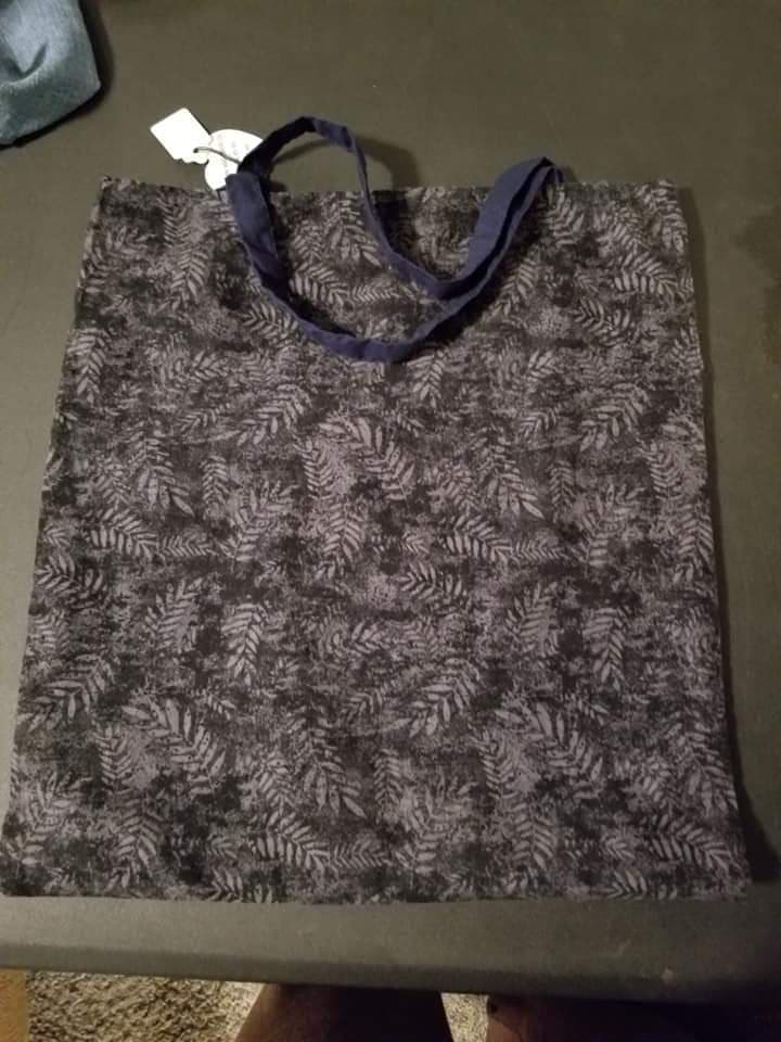 Black Leaf Reusable Bag
