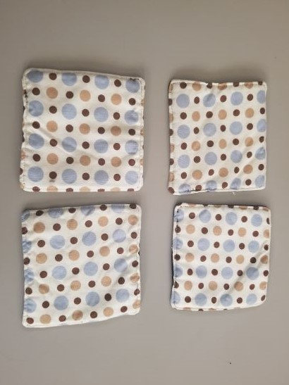 Tan and Blue Coaster Set