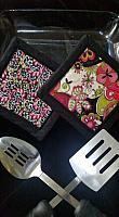 Pink/Green Flower Hotpads
